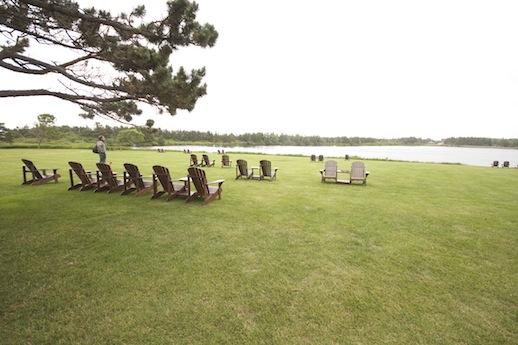 Muskoka Chairs on the water