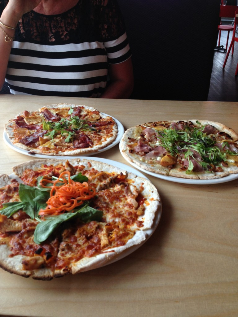 three gluten free pizza from Morris EAst BEdford