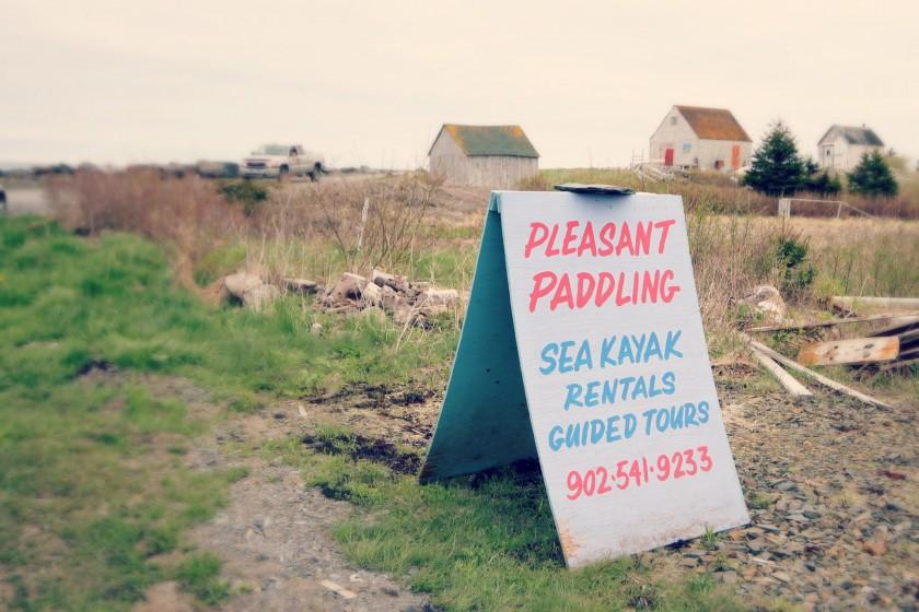 Pleasant Paddling Kayaking Blue Rocks