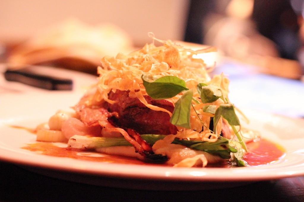 Stubborn Goat bacon wrapped beef tenderloin