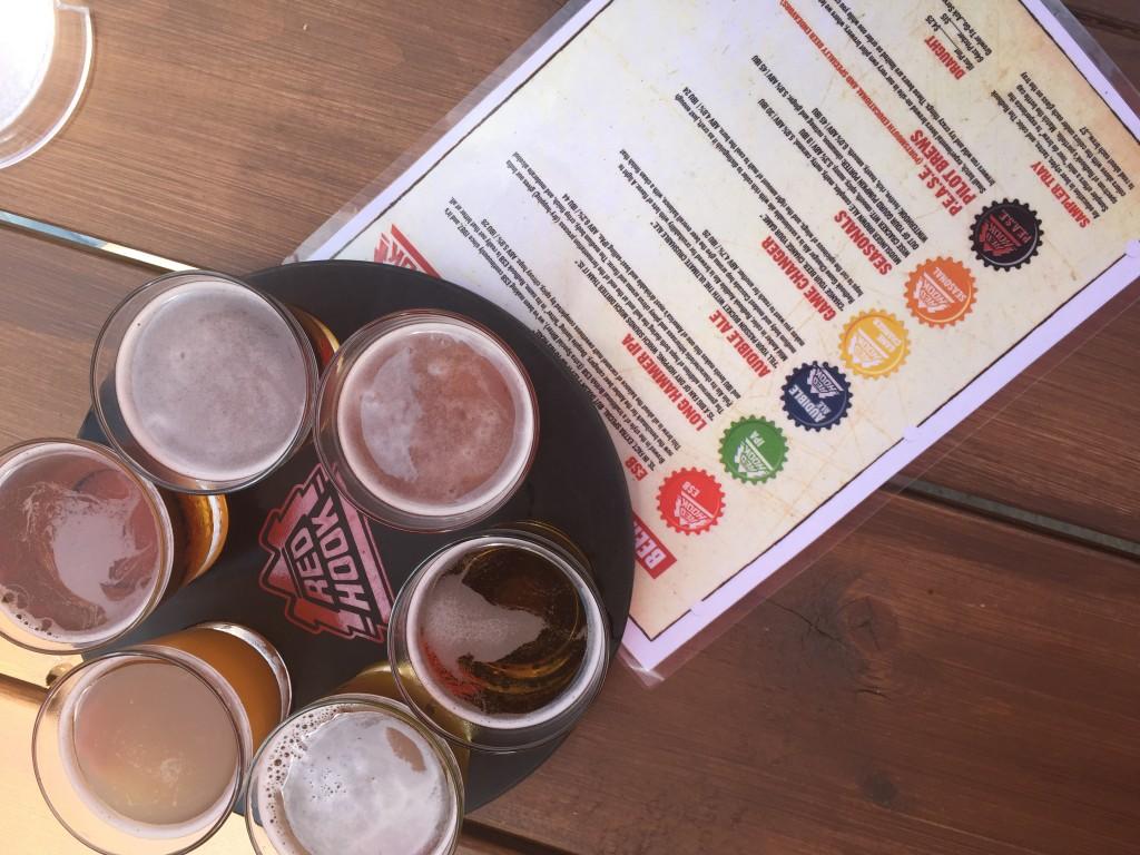 Sample Tray at Harpoon Brewery