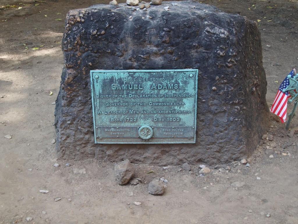 Sam Adams Grave Stone
