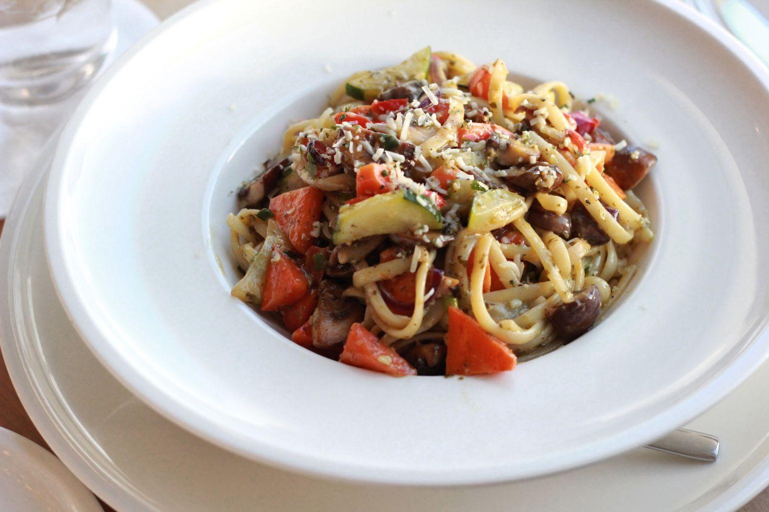 Drew ordered a veggie pasta. Delish!